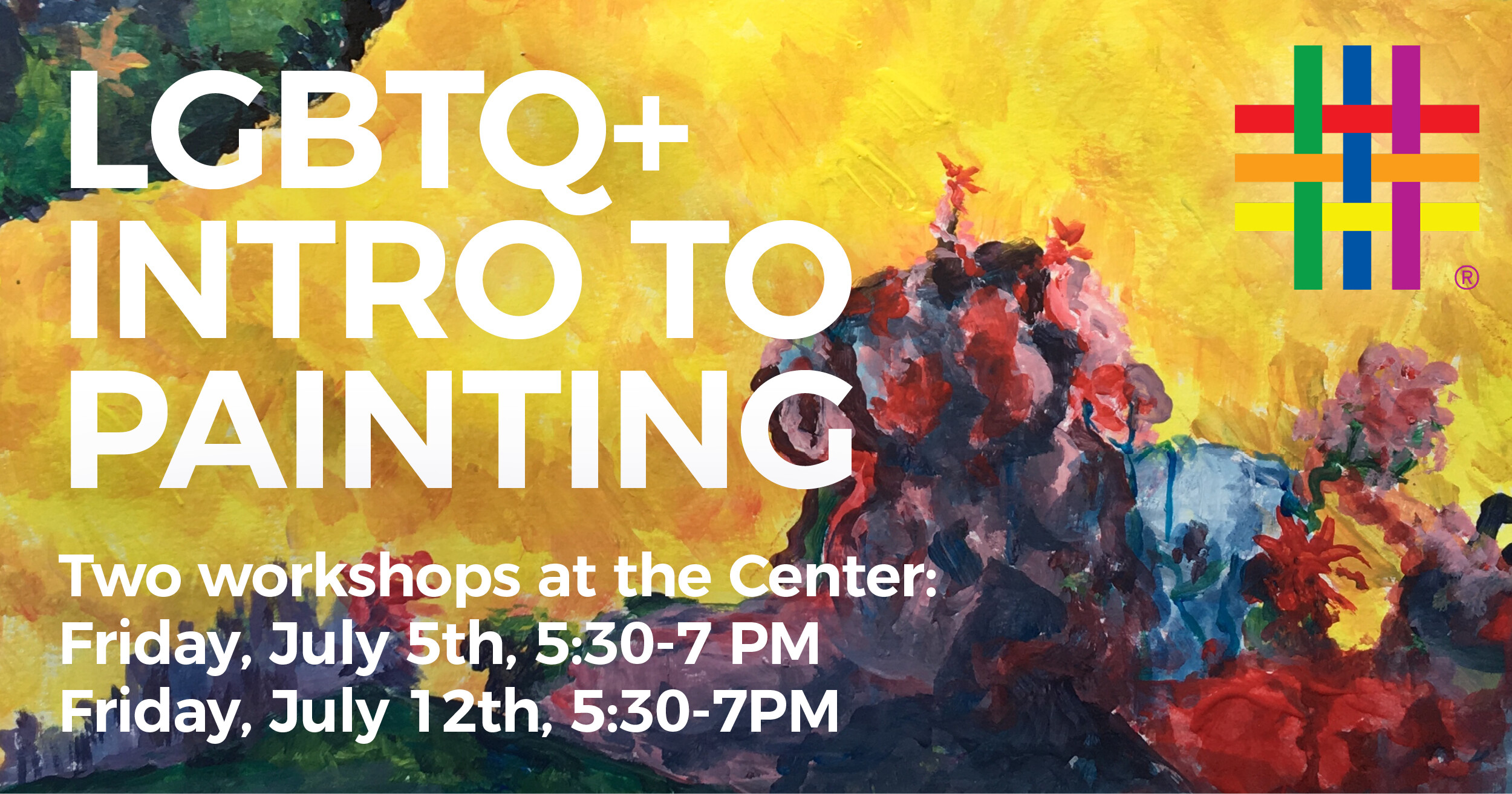 LGBTQ+ Intro to Painting at Brooklyn Community Pride Center