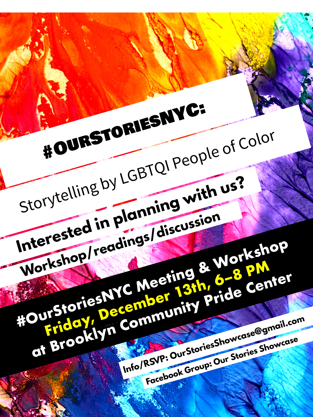 #OurStoriesNYC Writer's Workshop at Brooklyn Community Pride Center
