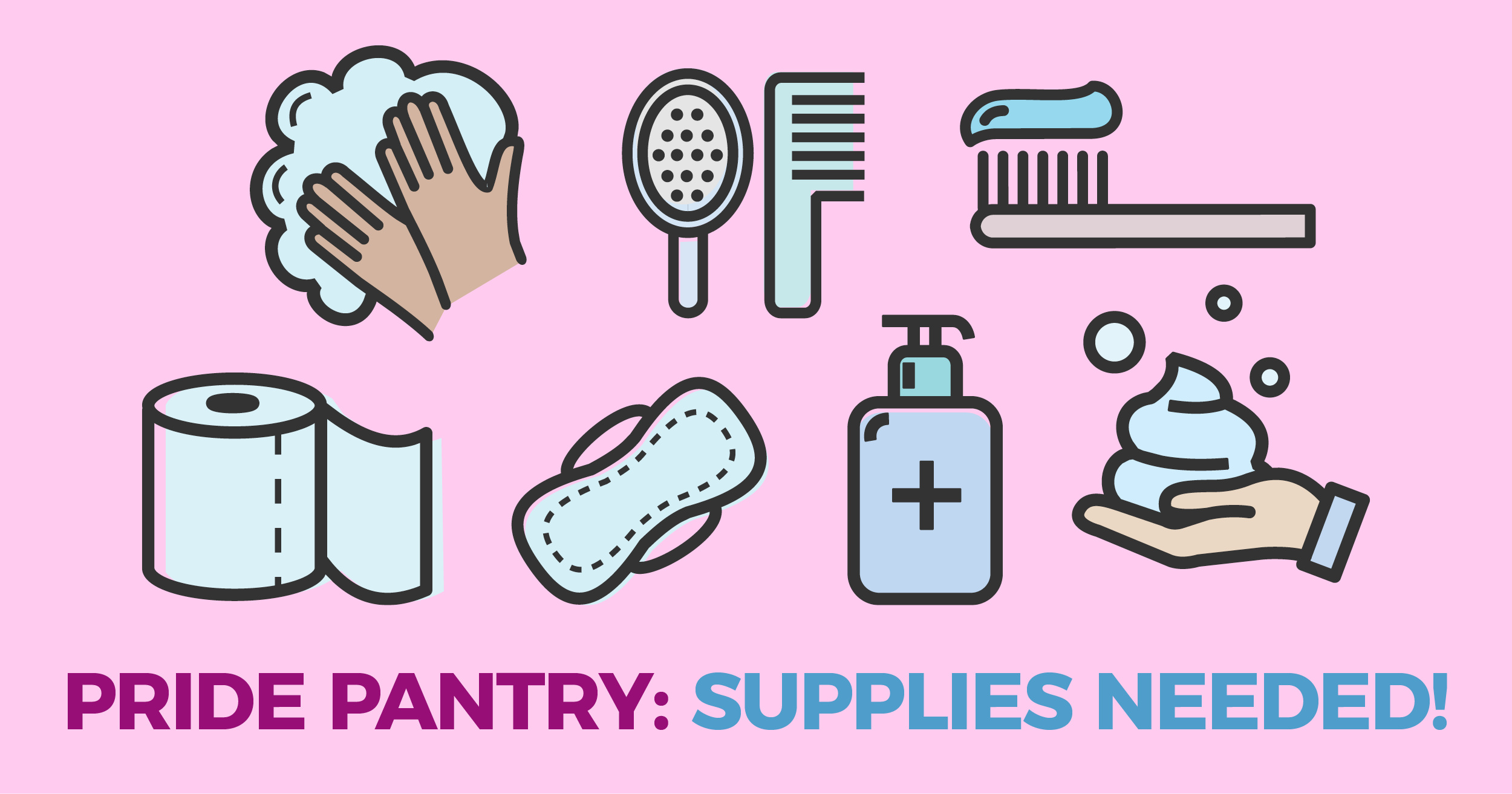 Supplies Needed for Brooklyn Community Pride Center Pride Pantry!