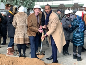 Groundbreaking for Bedford Union Armory revitalization project