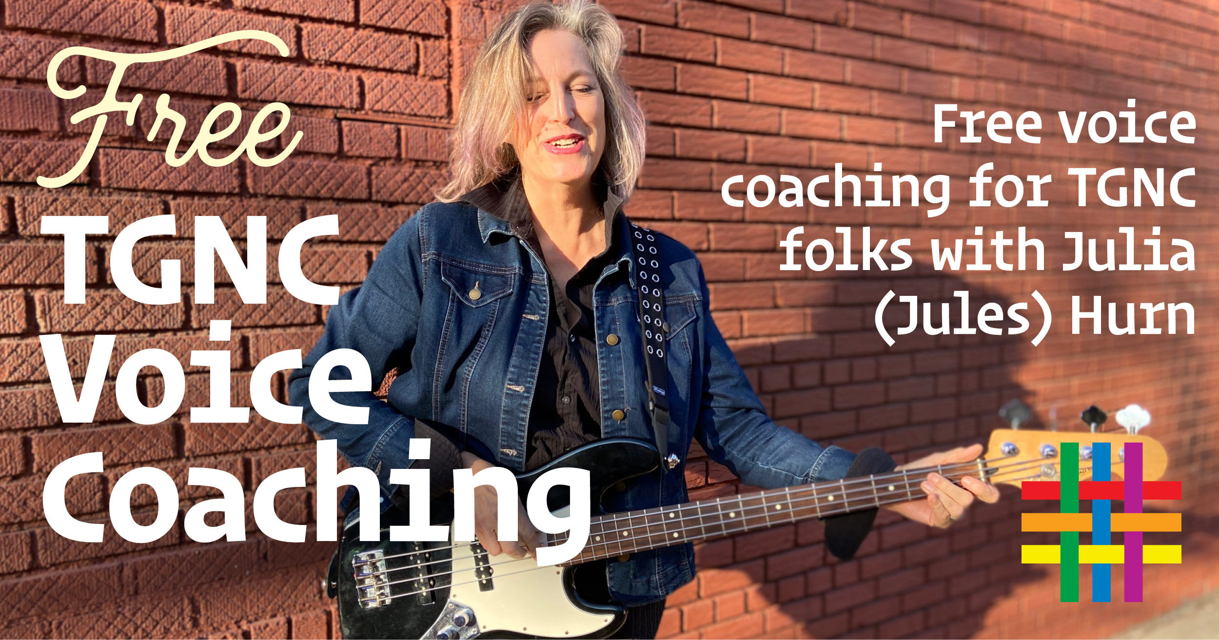 BY APPOINTMENT: Free TGNC Voice Coaching