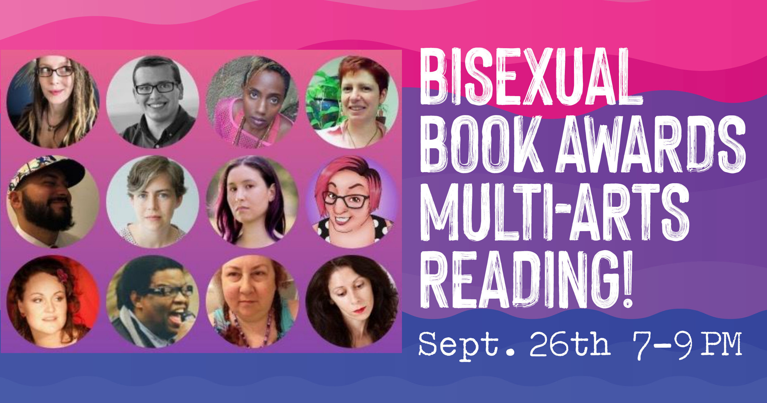 Bisexual Book Awards MULTI-ARTS READING! at Brooklyn Community Pride Center