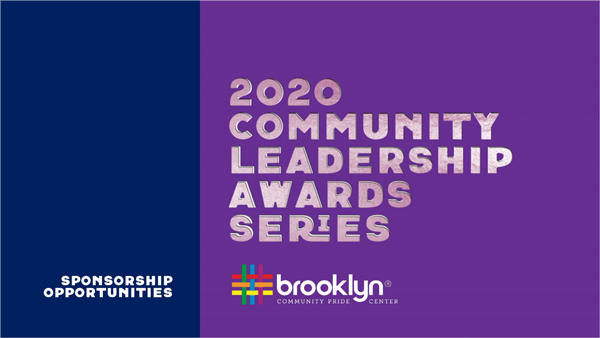 Sponsorship Opportunities Deck for Community Leadership Awards Series