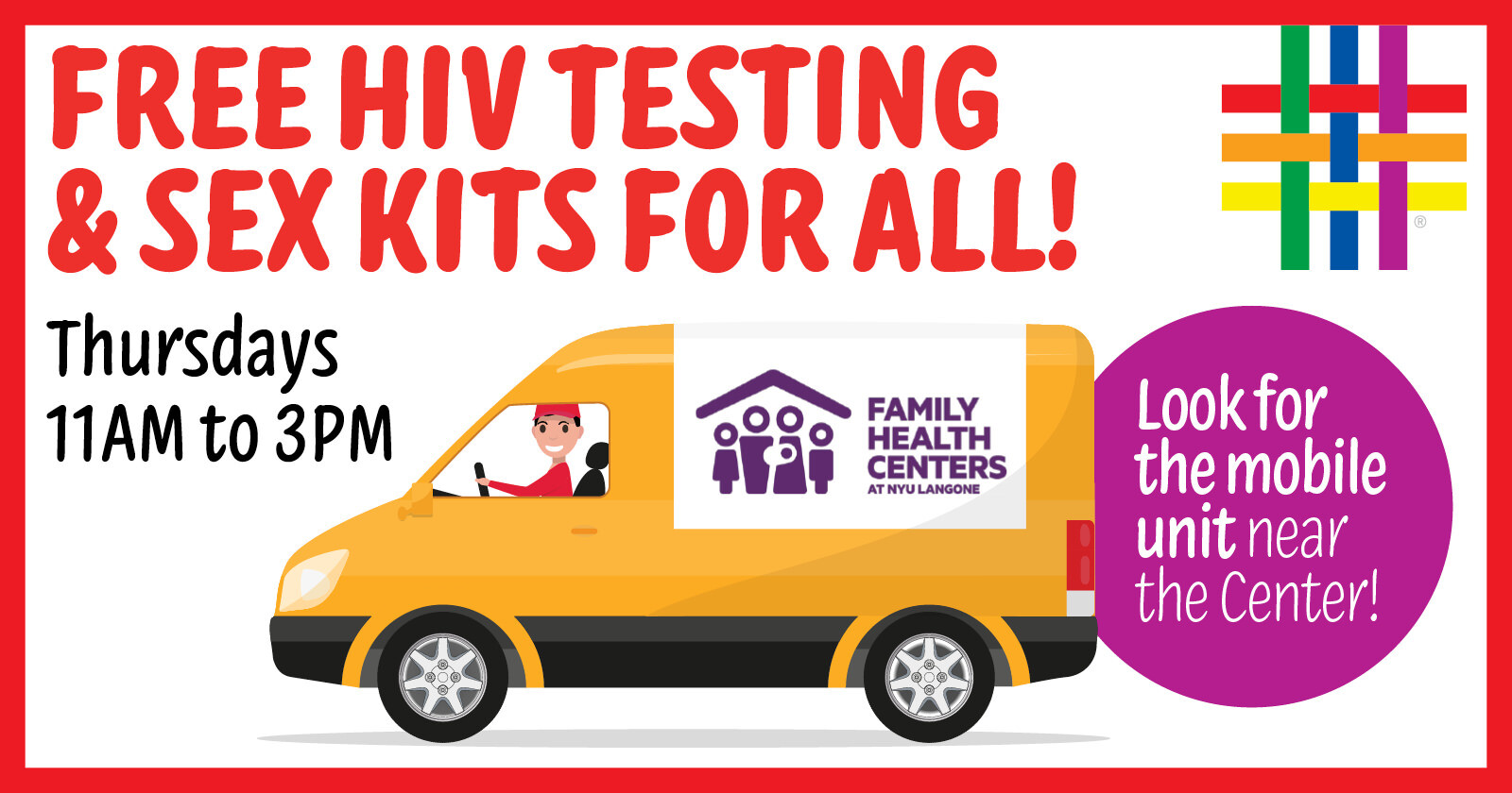 FREE HIV Testing Mobile Unit at Brooklyn Community Pride Center